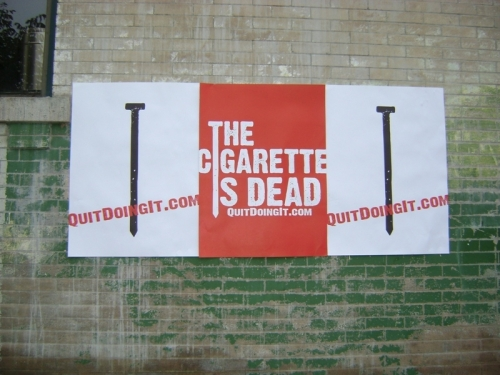 The Cigarette is Dead poster series in Denver